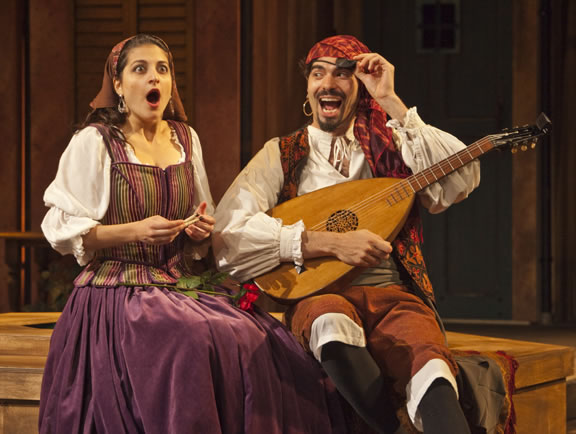 Bianca and Hortensio - The Taming of the Shrew, Shakespeare Santa Cruz