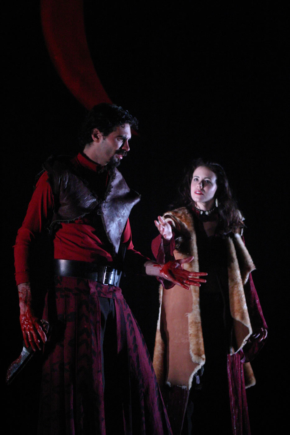 Macbeth and Lady M - Macbeth, Texas Shakespeare Festival